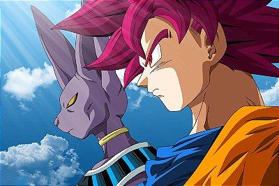 Quadro Dragon Ball  - Goku e Bills