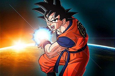 Quadro Dragon Ball - Goku Kamehameha