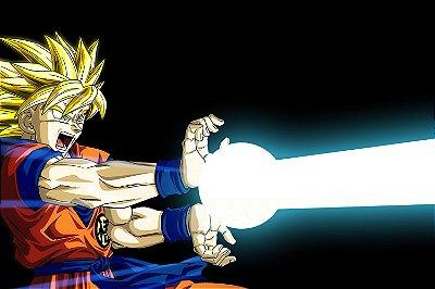 Quadro Dragon Ball - Goku Kamehameha 2