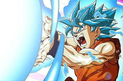 Quadro Dragon Ball - Goku Kamehameha 3