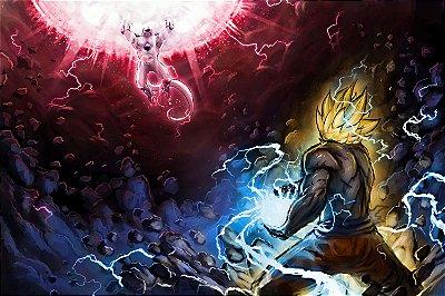 Quadro Dragon Ball - Goku vs Freeza