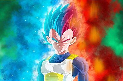 Quadro Dragon Ball - Vegeta Super Saiyajin Deus