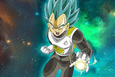 Quadro Dragon Ball - Vegeta Super Saiyajin Azul
