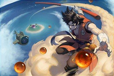 Quadro Dragon Ball - Goku Artístico