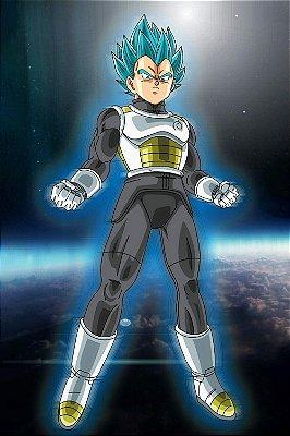Quadro Dragon Ball - Vegeta Super Saiyajin Azul 2