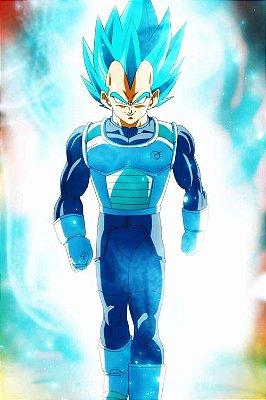 Quadro Dragon Ball - Vegeta Super Saiyajin Azul 3