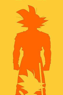 Quadro Dragon Ball - Goku Minimalista 3