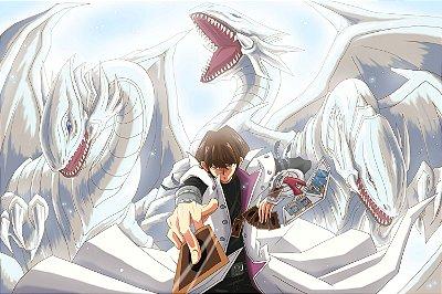 Quadro Anime Yu-Gi-Oh - Dragão Definitivo de Olhos Azuis