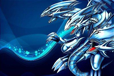 Quadro Anime Yu-Gi-Oh - Dragão Definitivo de Olhos Azuis 2