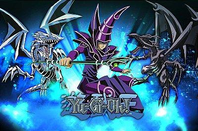 Quadro Anime Yu-Gi-Oh - Mago e Dragões