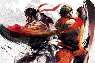 Quadro Gamer Street Fighter - Ryu e Ken