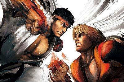 Quadro Gamer Street Fighter - Ryu e Ken 2