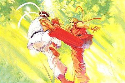 Quadro Gamer Street Fighter - Ryu e Ken 3