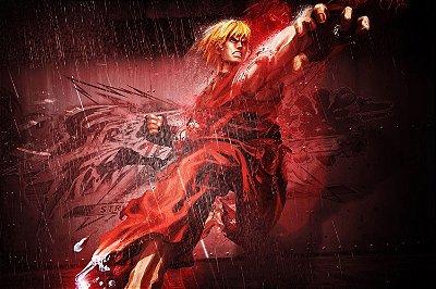 Quadro Gamer Street Fighter - Ken