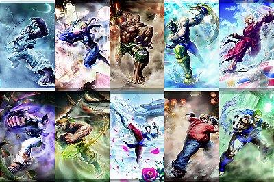 Quadro Gamer Street Fighter - Personagens