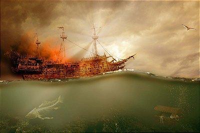 Quadro Mar - Caçador de Recompensas