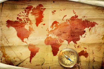 Quadro Mapa Mundi - Navegador