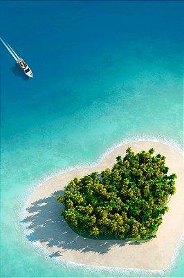 Quadro Praia - Ilha do Amor