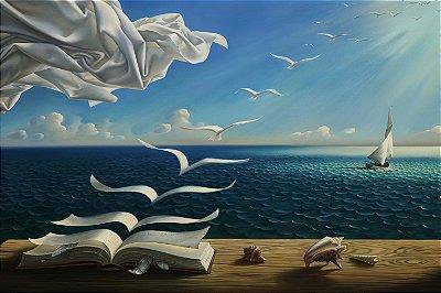 Quadro Mar - Livro da Liberdade