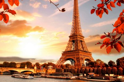 Quadro Paisagem - Torre Eiffel Amanhecer