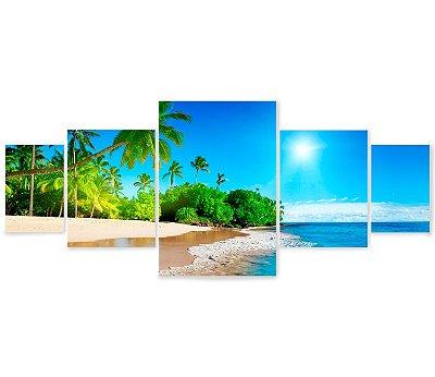 Kit 5 Quadros Praia
