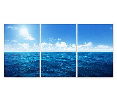 3 Quadros Decorativos Divididos - Oceano