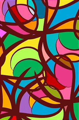Quadro Abstrato - Geometrias Coloridas