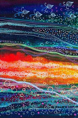 Quadro Abstrato - Mar Borbulhante