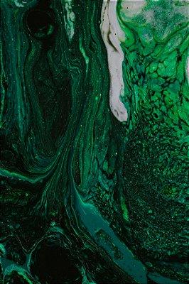 Quadro Abstrato - Misturas Verdes