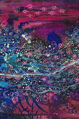Quadro Abstrato - Paraíso Aquático