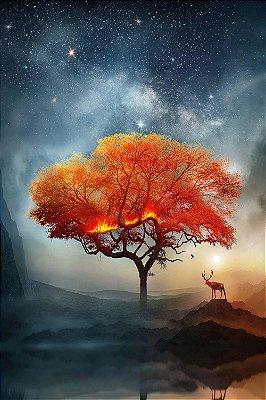 Quadro Moderno - Árvore em Chamas
