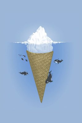 Quadro Minimalista - Sorvete de Iceberg