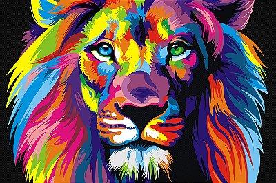 Quadro Leão - Colorido