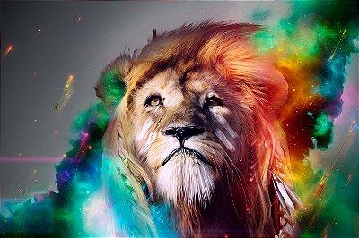 Quadro Leão - Eterno