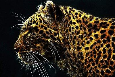 Quadro Animais - Leopardo de Energia