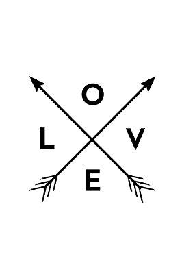 Quadro com Frase - Love Arrows