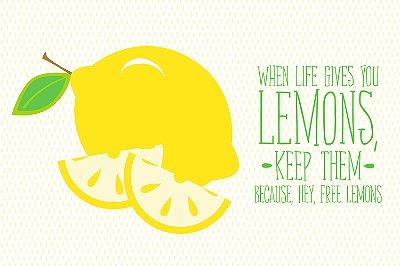 Quadro com Frase - Free Lemons