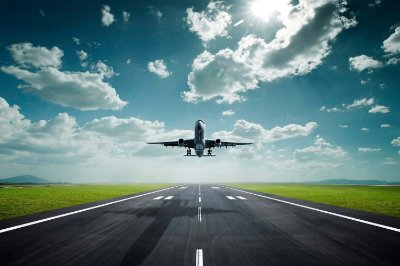 Quadro Paisagem - Decolagem de Avião