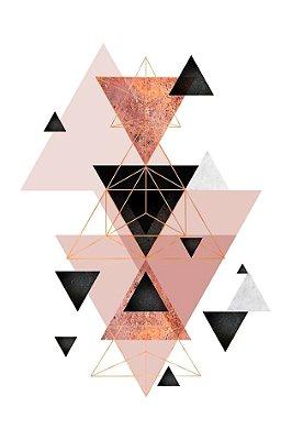 Quadro Minimalista - Explosão de Triângulos