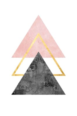 Quadro Minimalista - Trio de Triângulos