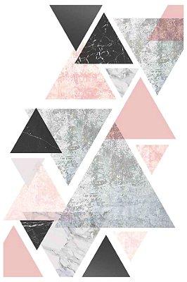 Quadro Minimalista - Faixa de Triângulos