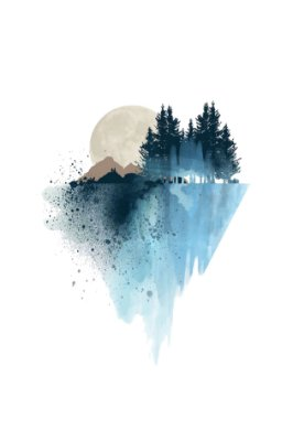 Quadro Minimalista - Pintura Natural Azul
