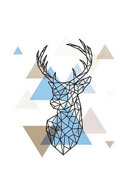 Quadro Minimalista - Cervo Azul