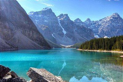 Quadro Paisagem - Lago Canadense