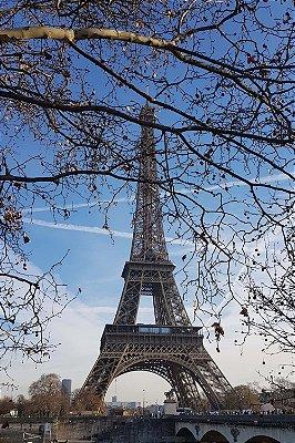 Quadro Paisagem - Torre Eiffel Primavera