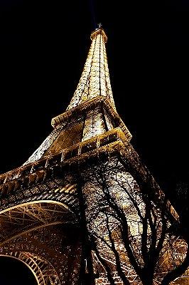 Quadro Paisagem - Torre Eiffel Noite