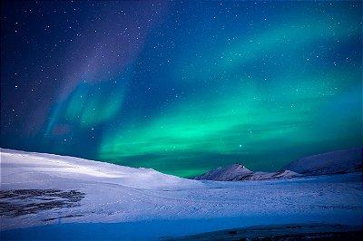 Quadro Paisagem - Aurora Boreal