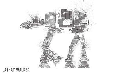 Quadro Star Wars - At-At Walker