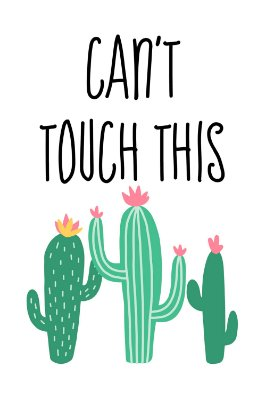 Quadro com Frase - Can't touch this