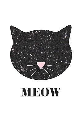 Quadro com Frase - Meow